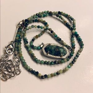 Kendra Scott African Turquoise Bead Elisa Necklace